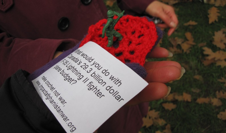 Maryam's crocheted soldier